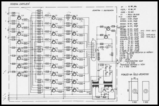 Diskrétní dekodér BCD/1 z 10 pro digitrony